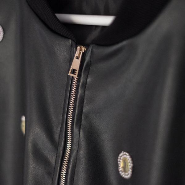 chaqueta de cuero efecto piel